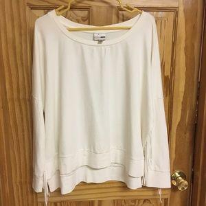 Sweaters - White fringe sweater